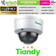 TIANDY 2MP 1080P MIC SD-CARD VCA PERIMETER TRIPWIRE IR POE SMART IP DOME CAMERA