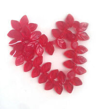 Red Leaves Glass Beads Czech Happy Valentines Day