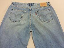 026 MENS EX-COND LEVI'S 514 LOOSE STR8 BLUE FADE JEANS 36 / 32 L $140.