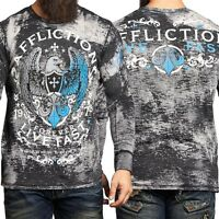AFFLICTION Mens THERMAL T-Shirt VIRTUE Tattoo Motorcycle Biker MMA Jeans $58