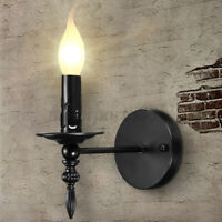 Modern Retro Vintage Industrial Wall Mounted Lights Lantern Rustic Sconce  *