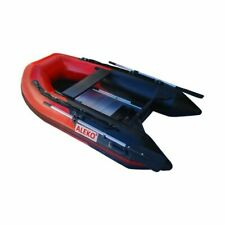 3 Person Youth Pool Lake Inflatable Fishing Raft Row Boat 2 Aluminum Oars 8.4 Ft
