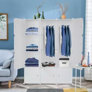 DIY 10-20 Cube Closet Wardrobe Modular Storage Organizer Clothes Kids Furniture
