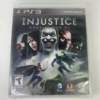 Injustice: Gods Among Us Sony PlayStation 3 PS3 Game Complete With Manual Tested