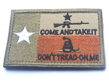 USA TEXAS STATE FLAG DONT TREAD ON ME TACTICAL MORALE COMBAT   PATCH A 527