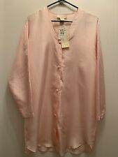Vintage 100% Silk Button Down Nightshirt By Delicates. Size Med. Nwt