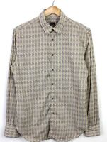 Paul Smith Geometric Style Long Sleeve 100% Cotton Fitted Slim Shirt - Size S
