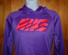 Nike Therma Fit Purple & Orange Long Sleeve Athletic Pullover Hoodie Youth XL