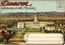 Vintage Souvenir Accordian Photo Pack - DENVER GATEWAY TO THE ROCKIES 1940