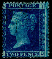 SG45, 2d blue PLATE 12, FINE USED. Cat £140. ID