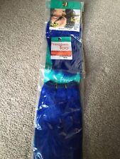 Sensationnel Hair Extensions,100% Human Hair Blue Color Wavy #8 Premium Quality