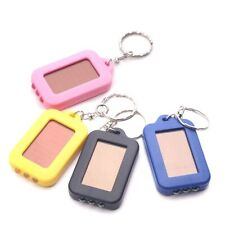 Portable Outdoor Solar power 3 led light Keychain keyring Torch flash light lamp