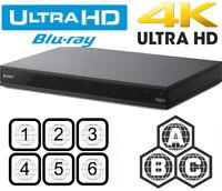Sony X800 Multi Zone All Region Code Free Blu-Ray Disc Player BD A/B/C DVD 0-9