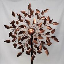BACKORDER OCT 180cm Heart Shaped Leaf Bronze Windmill Wind Spinner Garden Decor