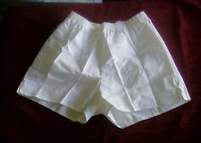 "French White Cotton PT/Running Shorts (3"" Inseam) Fits35-39 Overall length15""Lrg"