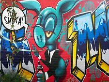 ART PRINT POSTER FOTO MURALE Graffiti Street Art Spray SMOKE nofl0333