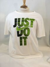 """The Nike Tee """"Just Do It"""" T Shirt Big Logo White/size X-Large Athletic Cut"""