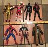 """Seven 1:12 Scale Action Figures 6-7"""" Spawn, Power Rangers, Batman BVS, Spiderman"""