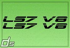 2x LS7 V8 Liter Engine Badge Decals Cowl Hood Letter Fender Door Sticker Crate