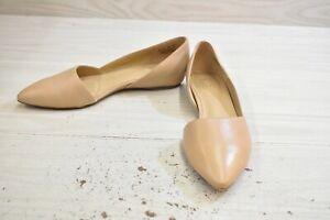 Naturalizer Samantha Leather Flats, Women's Size 10 W, Taupe