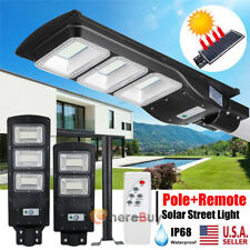 900000Lm Solar Street Light Led Ip67 Dusk-Dawn Pir Sensor Sportlight+Pole+Remote