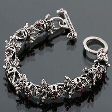Guntwo Korean Mens Fashion Bracelets - Biker, Hip Hop Skull Bracelet B0051 US