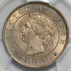 PC0056 Jamaica 1869 1/2 Penny PCGS UNC combine