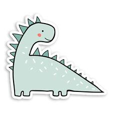 2 x 10cm Cute Dinosaur Vinyl Stickers - Cartoon Kids Jurassic Sticker #20839
