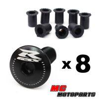 Engraving GSX-R Logo Black Windscreen Fairing Bolts Kit GSXR 600 750 1000