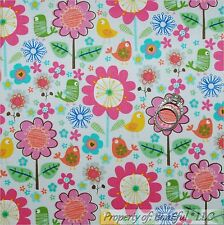 BonEful Fabric FQ Cotton Sheer VTG Red White Blue Dot Canada Leaf Retro Hippie S