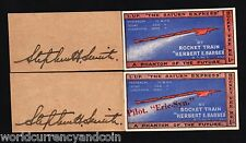 SIKKIM INDIA 1 RUPEE 1935 ROCKET TRAIN SATURN EXPRESS 2 ITEM UNIQUE SET