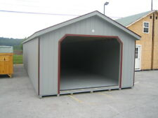 Amish Built 14x24 A-Frame Garage Storage Shed Duratemp Wood T111 Pre-Built