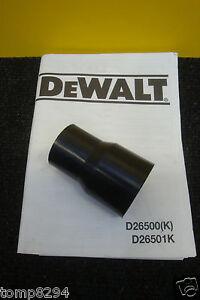 DEWALT D26500 D26501 PLANER VACUUM HOSE ADAPTOR 581002-00