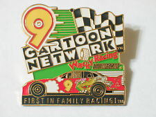 #9 Wacky Nascar First In Family Racing Lapel Pin Badge