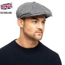 7554ed14 Grey Thinsulate Herringbone 8 Panel Gatsby Newsboy Baker Boy Peaky Blinder  Cap M/l -