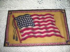 TOBACCO FLAG USA 48 STARS FELT