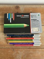 Schwan Stabilo Colored Charcoal Pencils Metal Tin Set of 19 Germany Professional