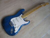 rare vintage electric guitar by ROYTEK. Custom hand made Strat- style solid