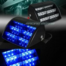 18 LED BLUE CAR TRUCK EMERGENCY WARNING DASHBOARD FLASH STROBE LIGHT UNIVERSAL 9