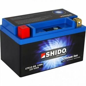 Fits Suzuki GSF 1250 N/S/SA Bandit 07>  Shido Lithium ION Battery LT12A-BS-LION