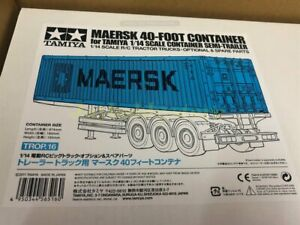 Tamiya 56516 1/14 Maersk 40' Container - For 1/14 scale Semi Trailer