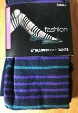 "Hudson "" Fashion "" Tights Baumwoll-Strick/Blue with Stripes / Size 36-38"