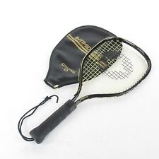 Vtg Spalding Intimidator Racquetball Racquet w/cover 3 7/8 grip