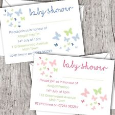 Baby Shower Invitations - Personalised - Including Envelopes - Various Designs