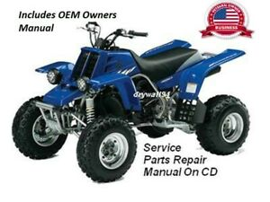 2001 - 2009 Yamaha Banshee YFZ350 OEM Owners Manual/Service&Repair Manual On CD