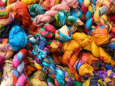 Sari Silk Ribbon Yarn Crochet/Knitting Yarn 100 Grams, 1 Hank 100% Pure Silk