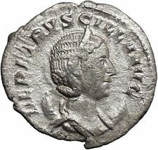Herennia Etruscilla Hostilian mom Silver Ancient  Roman Coin Modesty Cult i48766