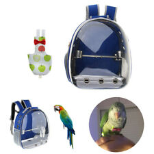 Bird Parrot Carry Bag Blue Backpack with Perch & Cloth Nappy Diaper