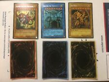 "Yu-Gi-Oh ""Orica"" FanMade God Cards Set Slifer Obelisk Winged Dragon of Ra Proxy"