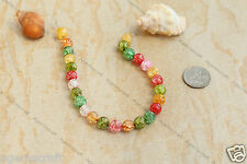26 Mixed colours lot 8mm round Crackle Glass beads Craft Beading design new
